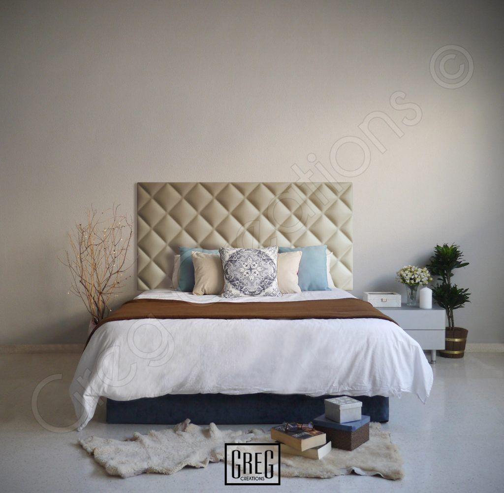 Dormitorio con cabecero de cama de la serie CLASSIC tapizado en ...
