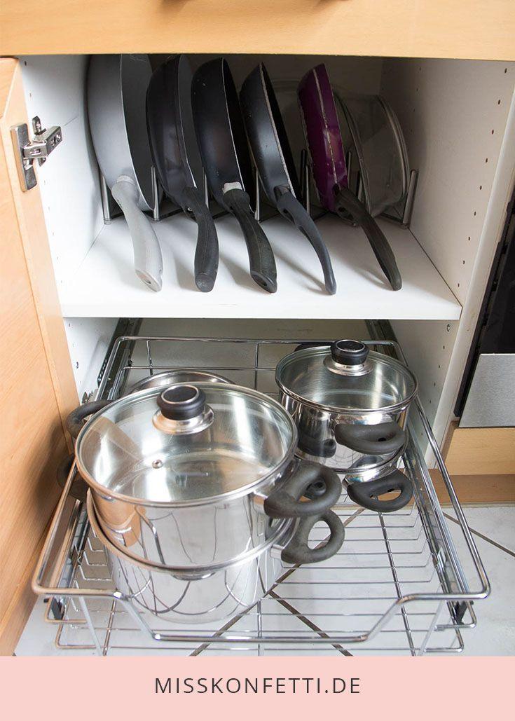 Ordnung in der Küche - Kochzubehör organisieren | Miss Konfetti