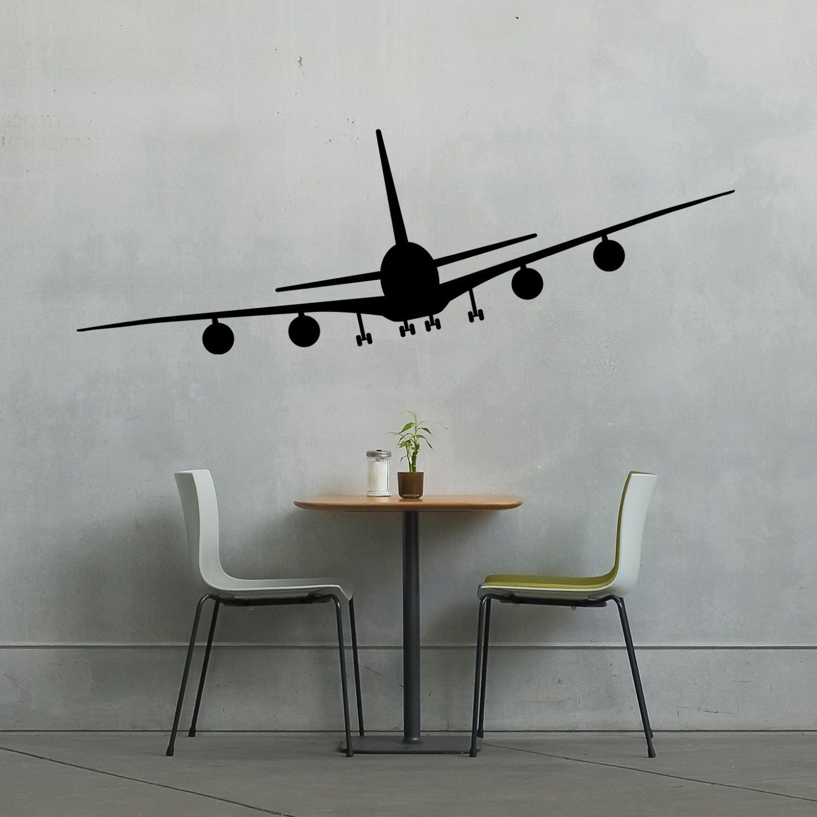 Airplane wall vinyl decal sticker family kids room