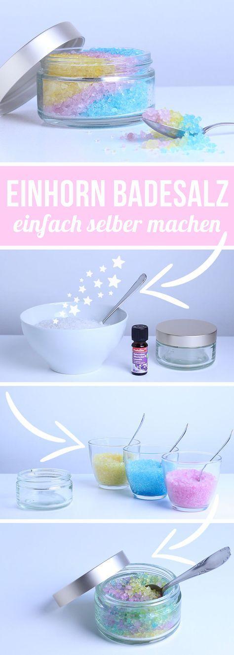 Einhorn Badesalz selber machen | DIY Geschenkidee | chestnut!