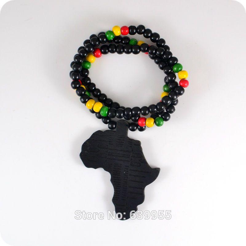 Fonkelnieuw Goede Hout NYC X Chase Infinite Black Afrika Kaart Hanger Houten RM-19