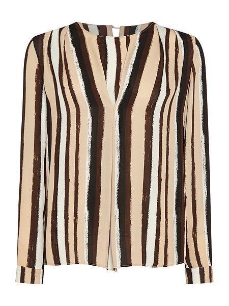 Womens Linea Stripe Print Long Sleeve Blouse Size 14 UK CS079 DD 11  fashion   clothing  shoes  accessories  womensclothing  tops (ebay link) 7fecd43e1b