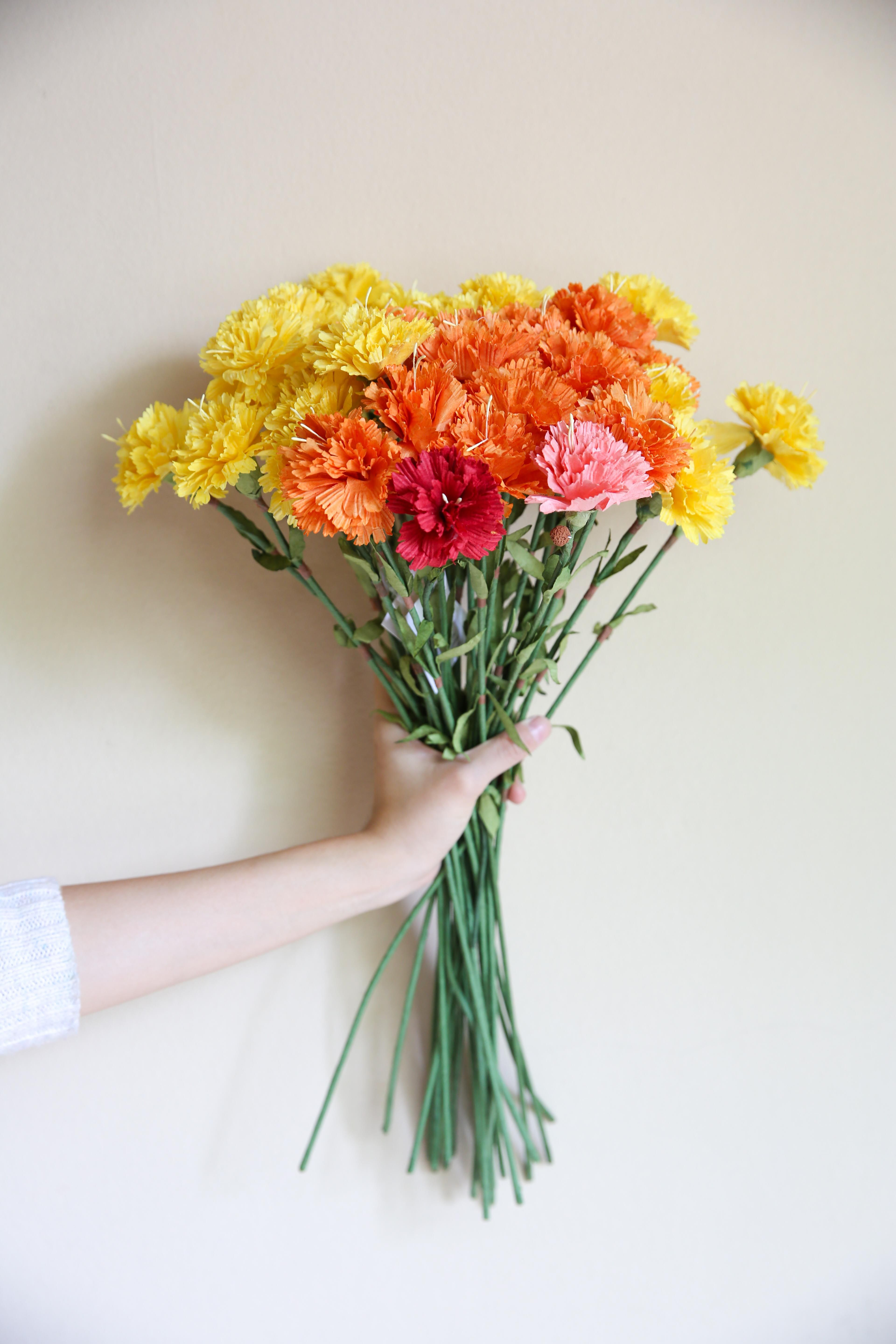 Paper flowers artificial flowers carnation paper flowers paper flowers artificial flowers carnation mightylinksfo Images