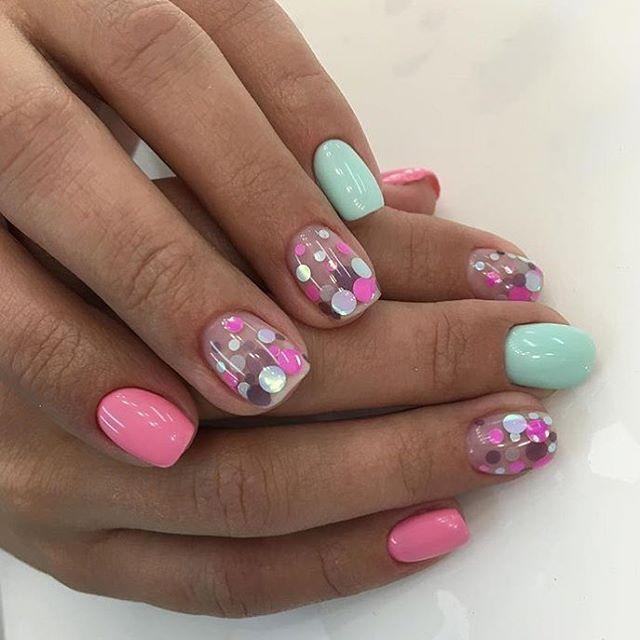 Rosa y Menta | garritas | Pinterest | Menta, Rosas y Diseños de uñas