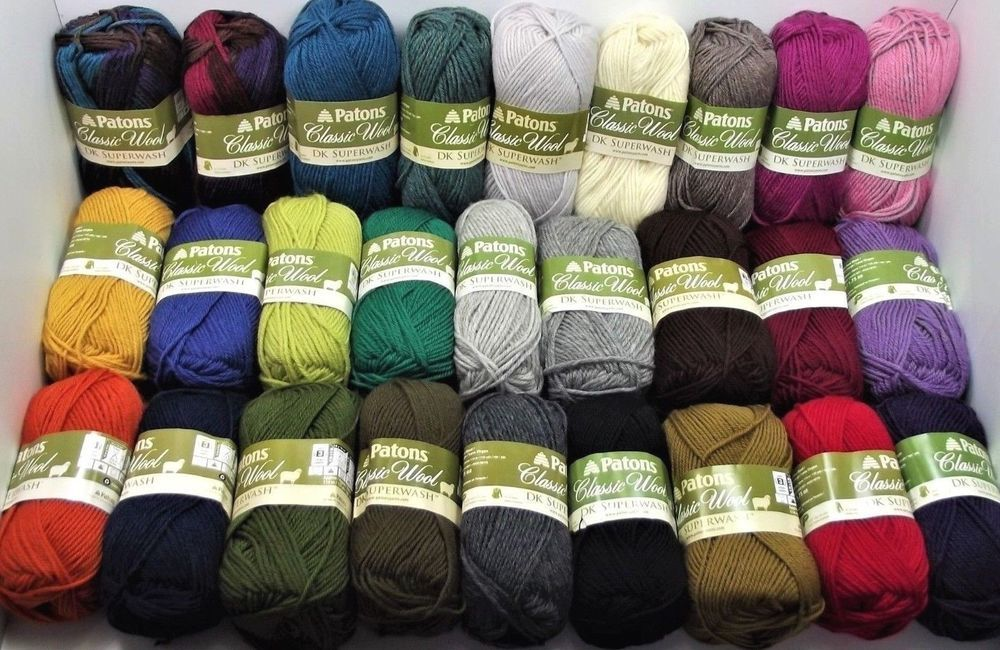 Details about Patons Classic Wool Yarn DK Superwash 50g, 125