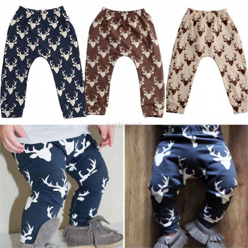 Kids Baby Boys Girl Printed Clothes Elastic Harem Pants Toddler Trousers Legging