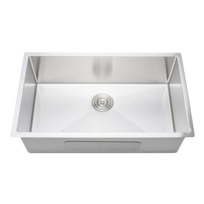Wells The Chefs Series Undermount Stainless Steel 32 In Handmade Single Bowl Kitchen Sink Silver Single Bowl Kitchen Sink Sink Apron Sink Kitchen