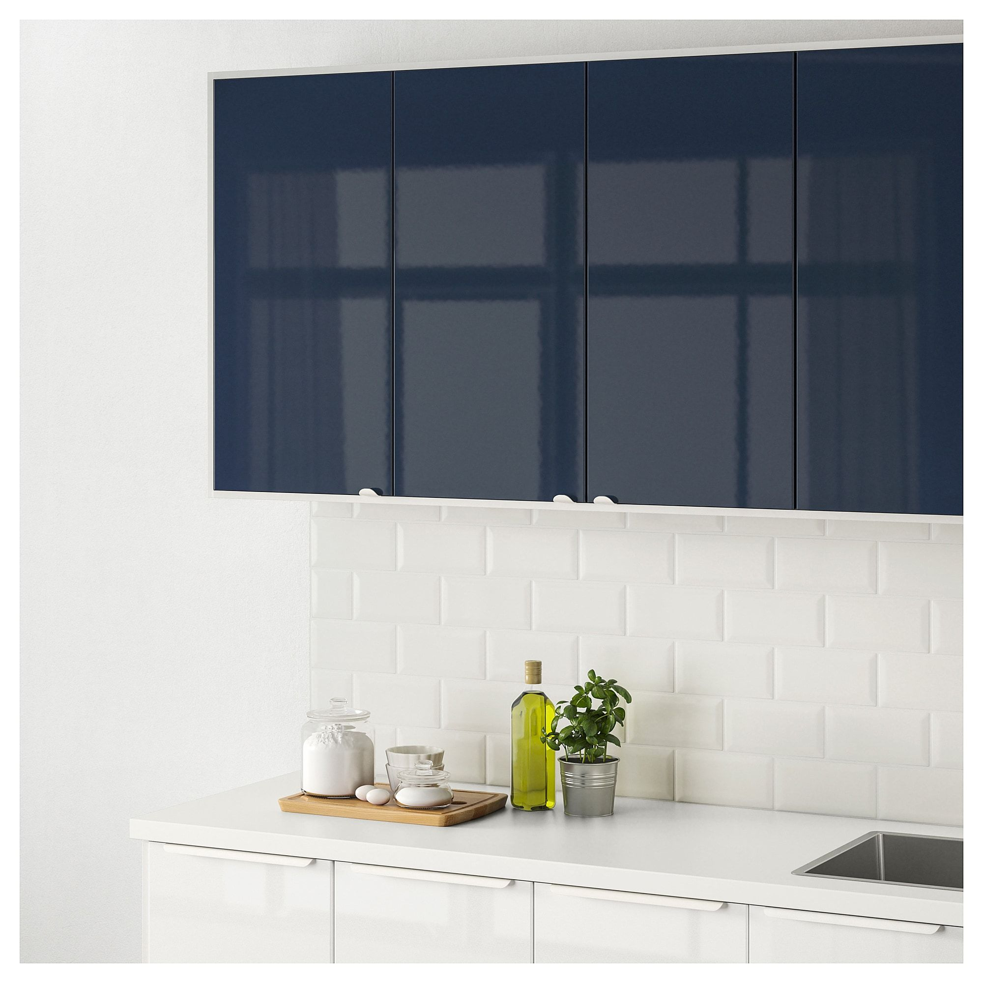 Ikea Küche Järsta JÄrsta Door High Gloss Black Blue In 2019 Meg Black Kitchens