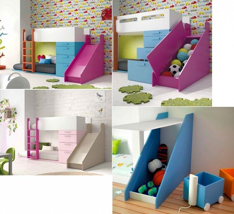 Letto a castello dal design originale con soluzioni for Design delle camere dei bambini