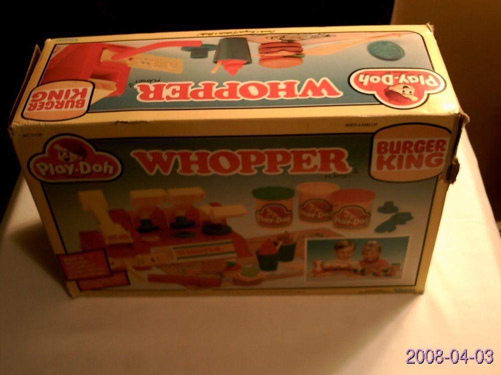 1988 Burger King Whopper PlayDoh Playset in Box Kenner
