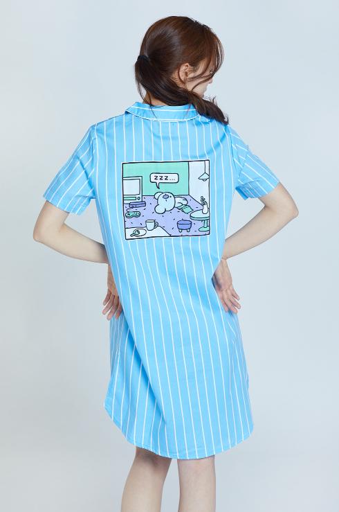 bt21 one piece night dress pajamas sleepwear night dress pajama dress one piece