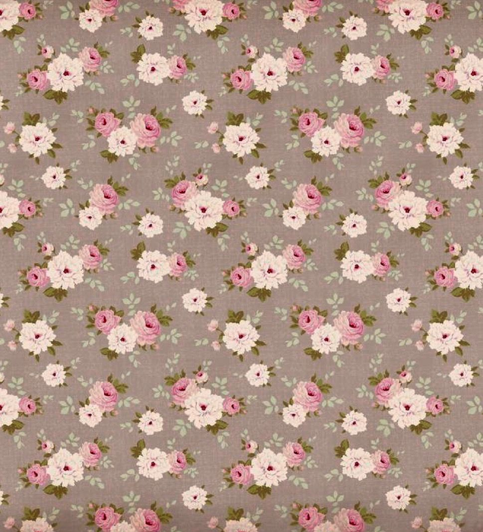 Khaki/Mocha Brown and Dusty Rose Floral Print Background