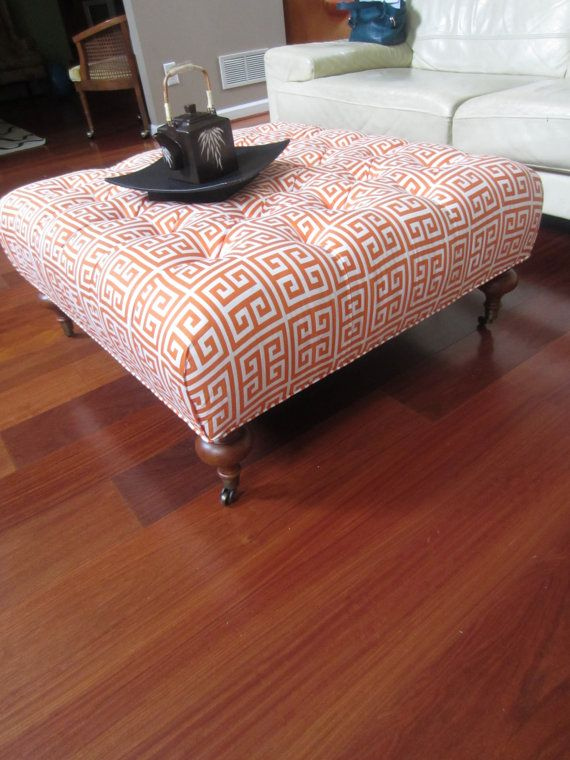 Ottoman Greek Squares In Orange By Urbanmotifs On Etsy
