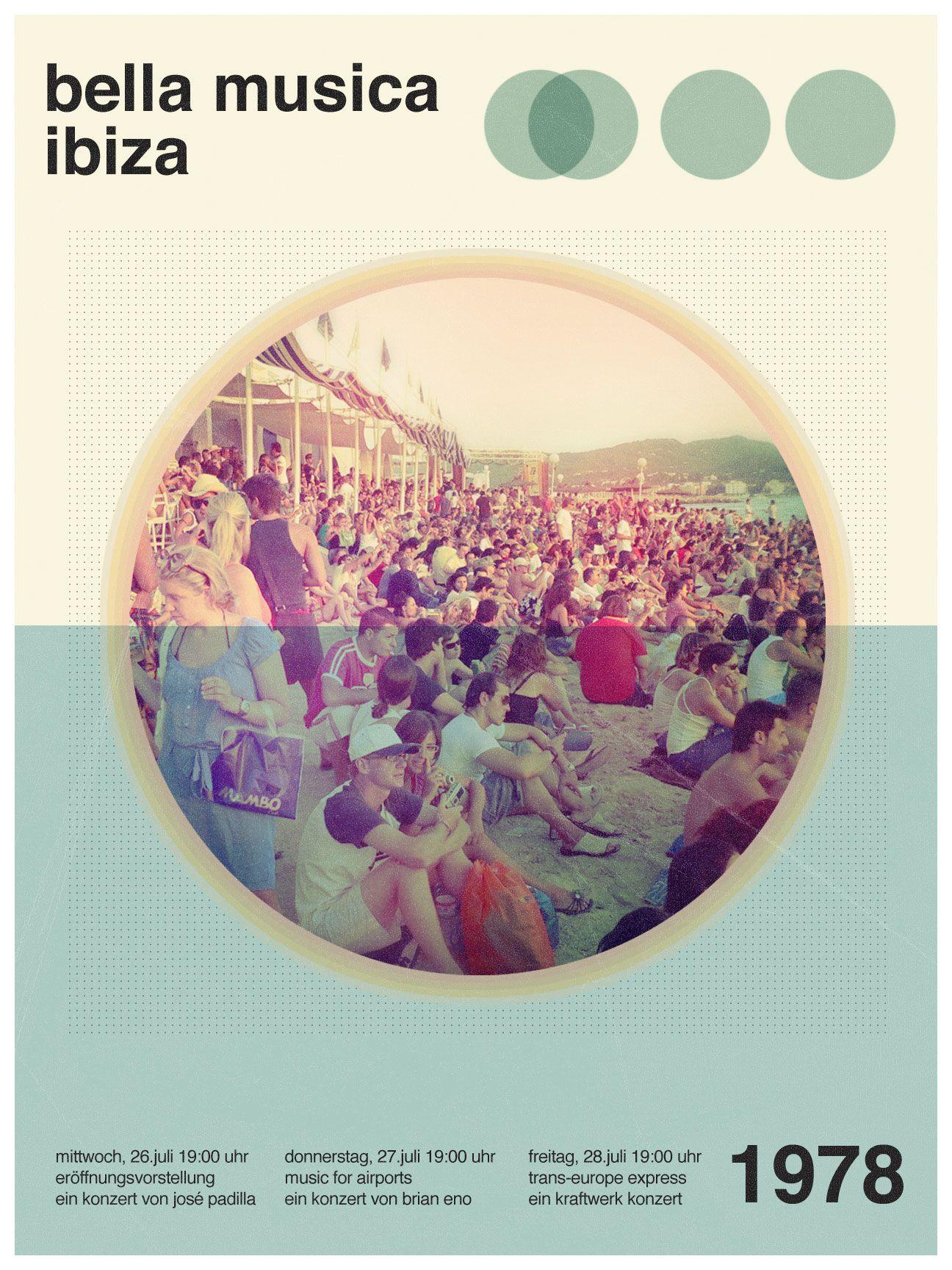 Swiss Style Music Festival Poster  Me intereso el tema de la cromía, los tons utilizados.
