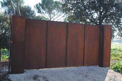 gate corten ogrodzenia pinterest portail corten et acier corten. Black Bedroom Furniture Sets. Home Design Ideas