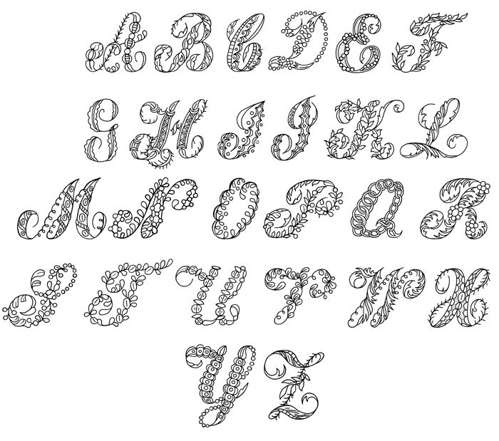 Bubble letter cut outs fancy writing alphabet creative