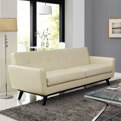 Modway Engage Leather Sofa Reviews Wayfair Supply