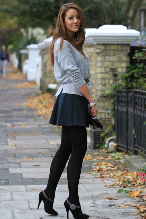 Pin by Amanda Dargy on Simply Me | Tights and heels, Outfits, Fashion