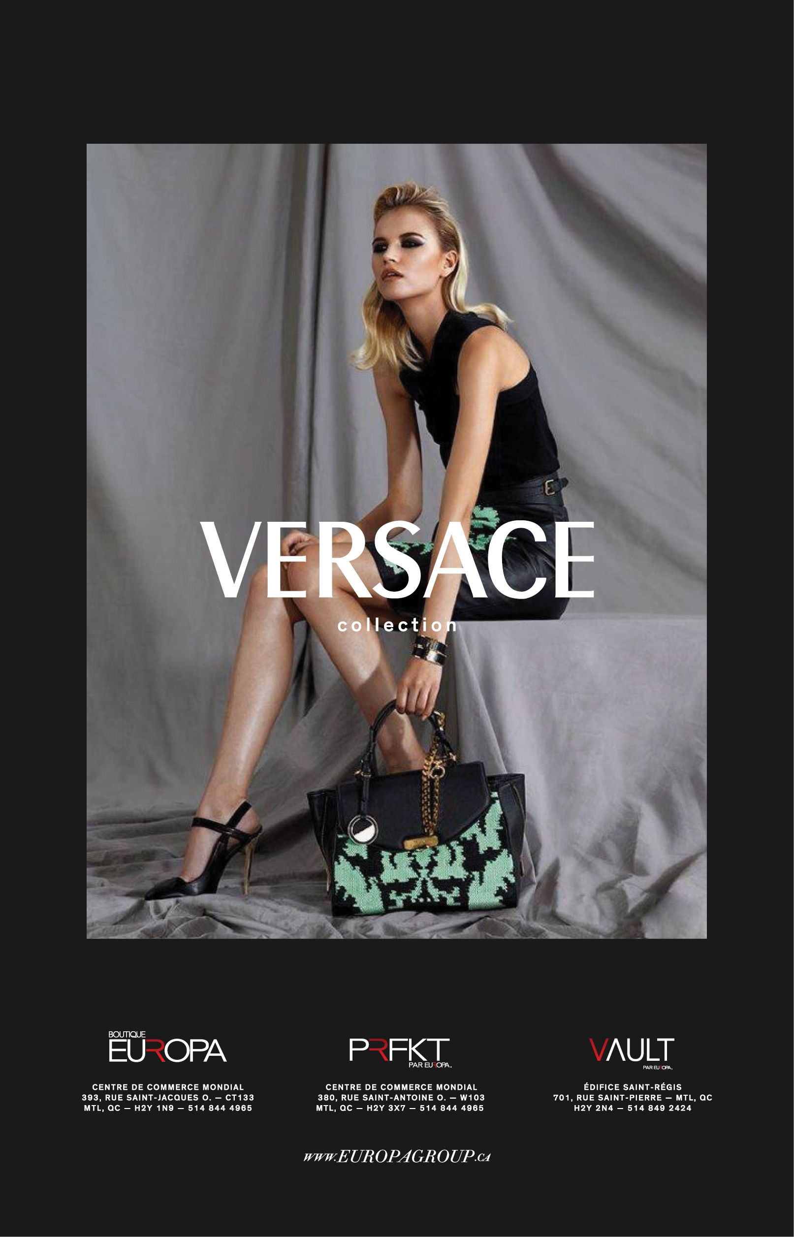 @Official Versace spring 2013 collections now in at @EuropaBoutiques! #fashion #luxury #Montreal