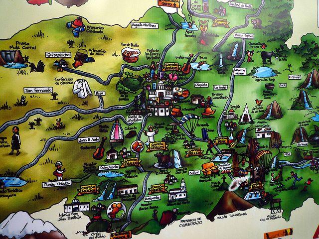 Mapa de Bańos