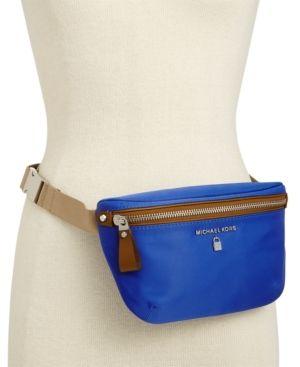 2838ec6fe2f4 Michael Michael Kors Nylon Belt Bag, a Macy's Exclusive Style - Blue