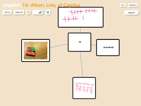 Journey with an iPad: Popplet and representing numbers