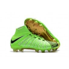 buy popular 60845 0f17a Cheap Nike Hypervenom Phantom III DF FG EA Sports Mens Soccer Cleats Green  Black