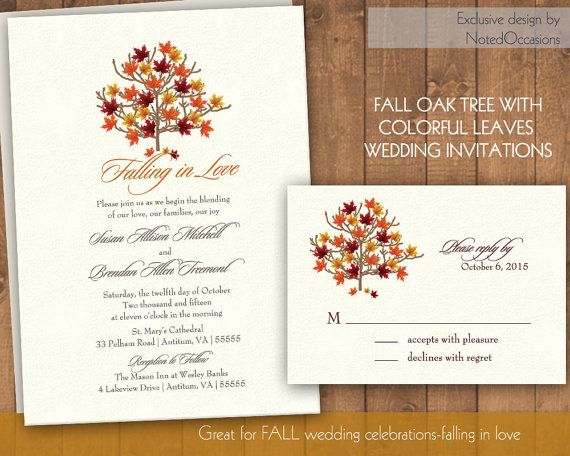 17 Best images about Wedding invitations – Printable Fall Wedding Invitations