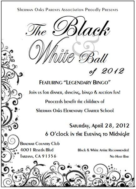 black and white ball invitations