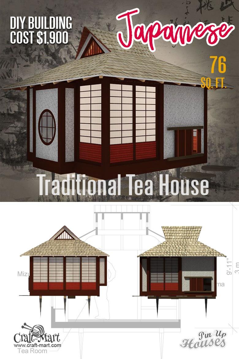 Small Unique House Plans A Frames Small Cabins Sheds Craft Mart Unique House Plans Small House Plans Japanese Tea House