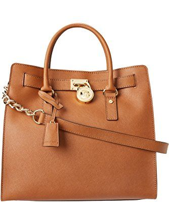 MICHAEL Michael Kors Women's Hamilton Lareg North/South Tote, Brown ❤ MICHAEL Michael Kors