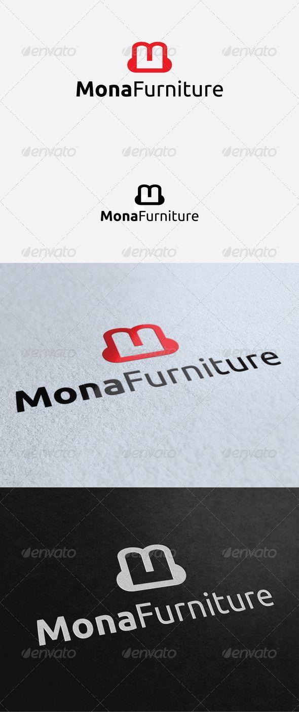 Furniture logo inspiration - Mona Furniture Logo Template