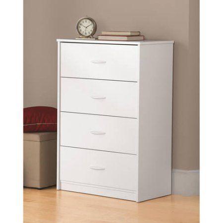 Mainstays 4 Drawer Dresser Walmart Com Storage Furniture Bedroom Chest Of Drawers Drawers