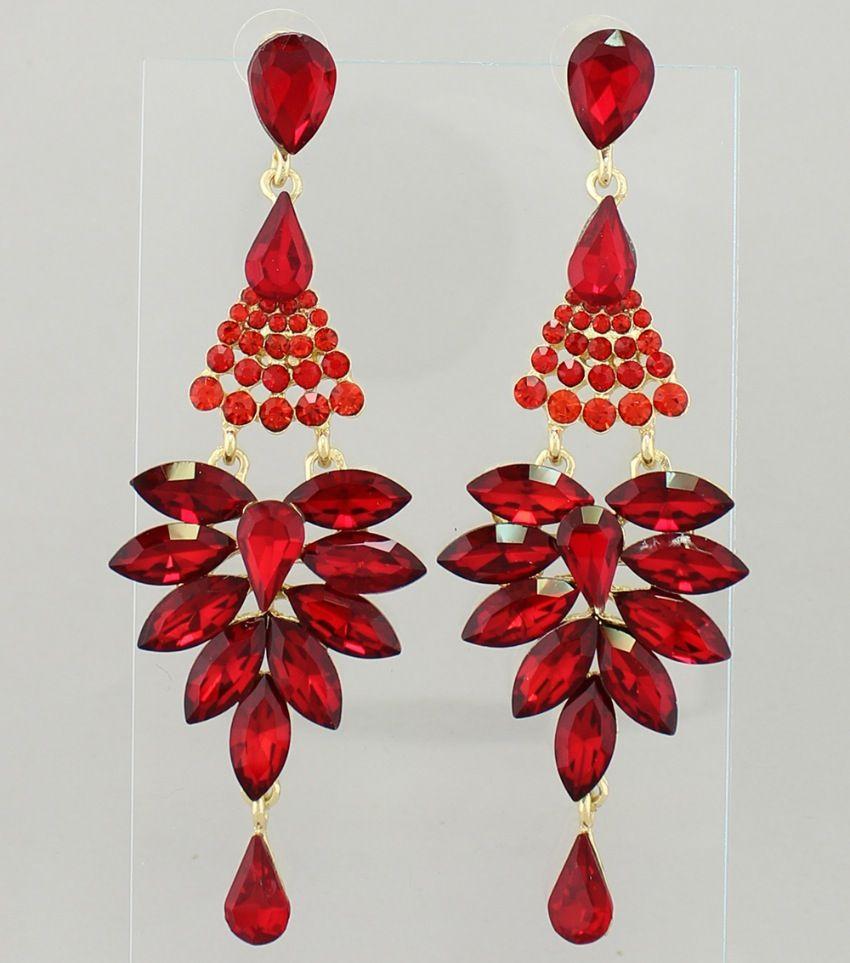 Pageant earrings long red chandelier earrings color red gold pageant earrings long red chandelier earrings color red gold size 4 arubaitofo Images