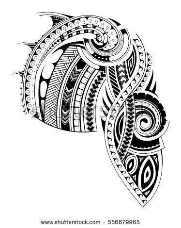 Maori Style Tattoo Design For Chest And Sleeve Areas Chest And Sleeve Parts Are Separated For Conveni Maori Tattoo Polynesian Tattoo Polynesian Tattoo Designs