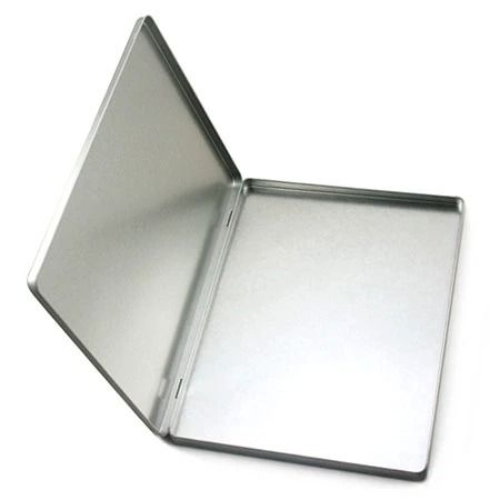 3pcs 30 5 22 8 1 4cm A4 Size Hinged Tin Box For A4 Files Office Large Rectangle Muji Silver Plain Metal Storage Case In Metal Storage Box Tin Boxes Cheap Boxes