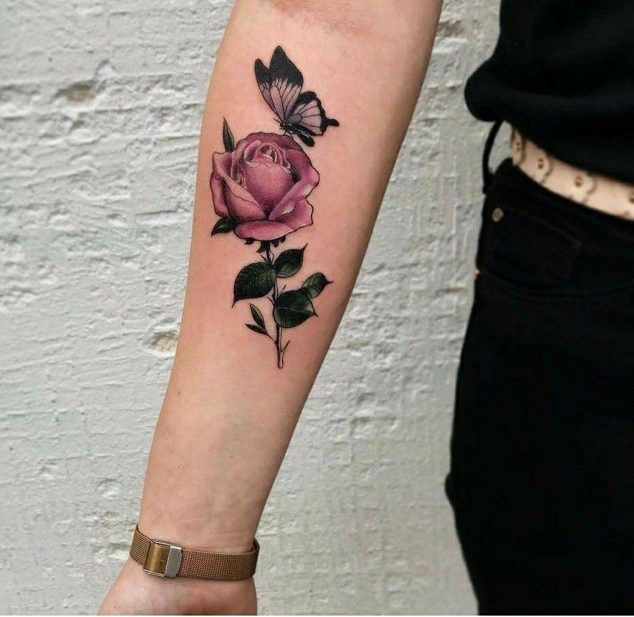 Flor E Borboleta Tatuagem Feminina Tatuagens Belas E