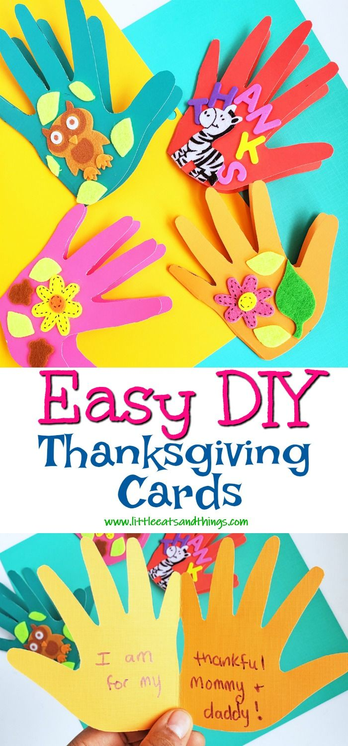 Easy DIY Thanksgiving Cards - Little Eats & Things -   19 diy thanksgiving cards easy ideas