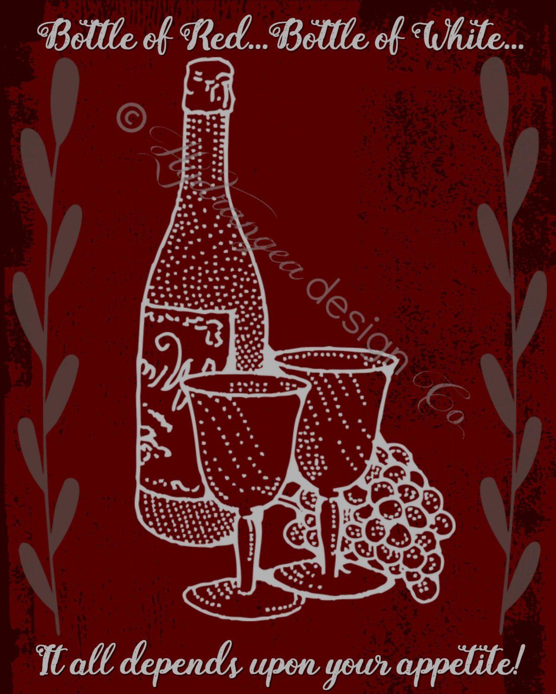 Kitchen Art Digital Print Wine Billy Joel Red Grey Scenes From An Italian Restaurant Digital Prints Print Etsy