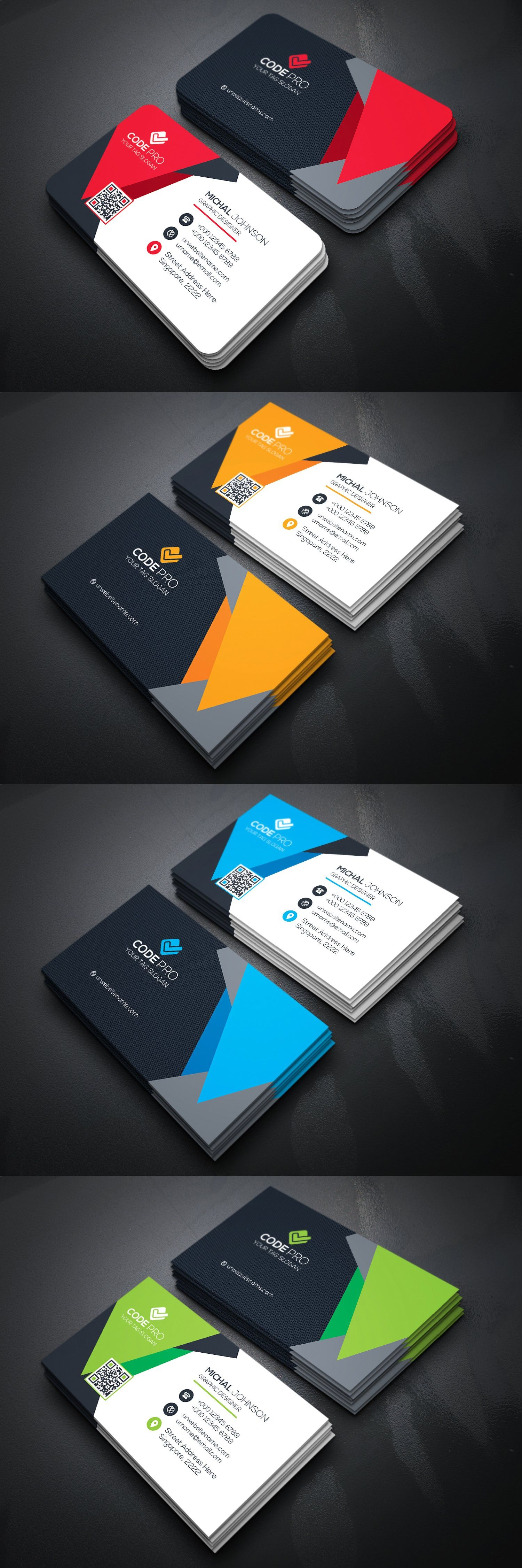 Creative Business Card Templates Psd With Images Business