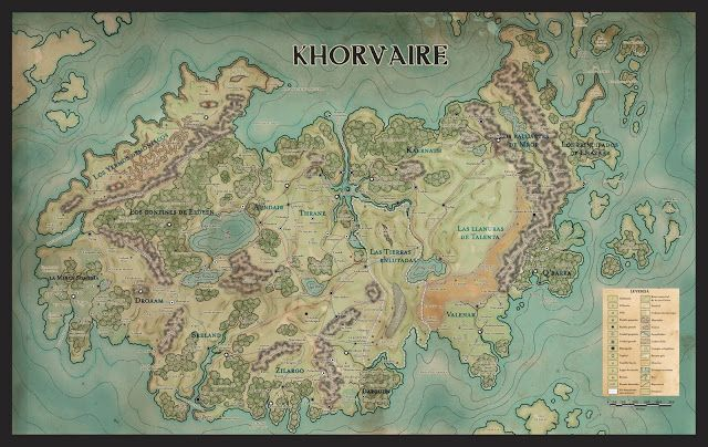 Map Of Khorvaire, Main Eberronu0027s Continent