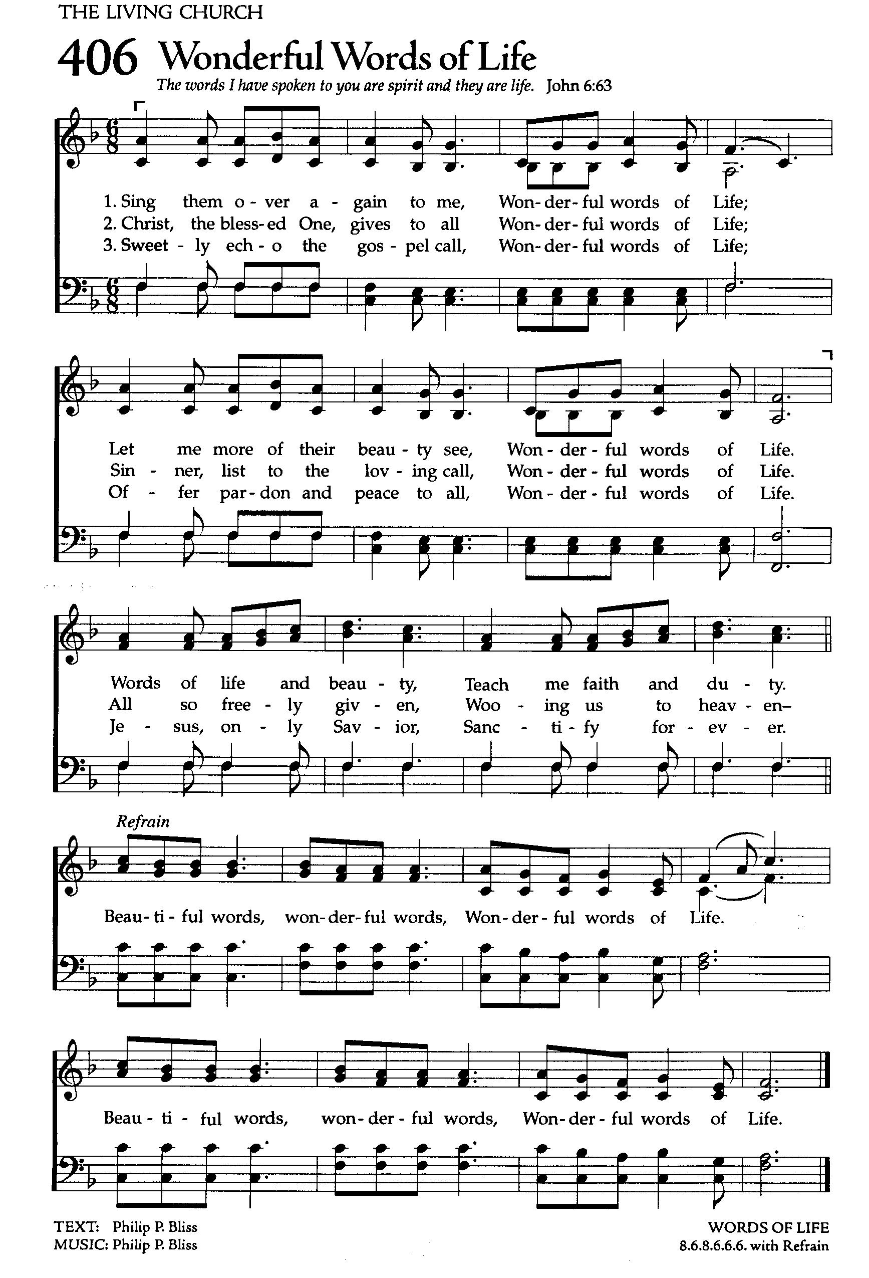 Wonderful Words of Life  high (1735×2550) | Hymns