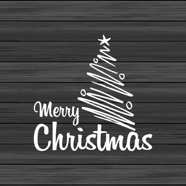 Download Merry Christmas Wood Background With Creative Lettering for free