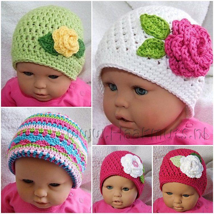 Mutsje En Roosje Haken Inspiratie Geen Patroon I Crocheting