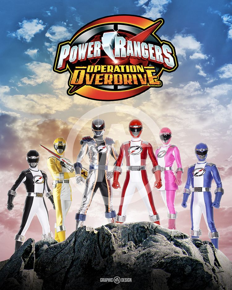 8 x 10 glossy print of the legendary power rangers operation overdrive