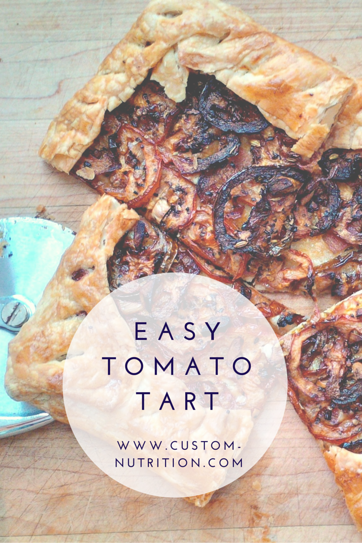 Tomato, bacon and gruyere tart. You likely have all the ingredients you need already in your fridge which can make this a quick dish easily thrown together. I like to keep a roll of puff pastry in my freezer just for occasions like this.