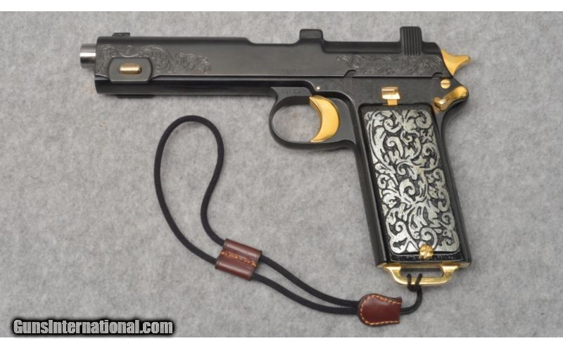 Newly Customized Steyr 1912 Engraved With Gold Appointments