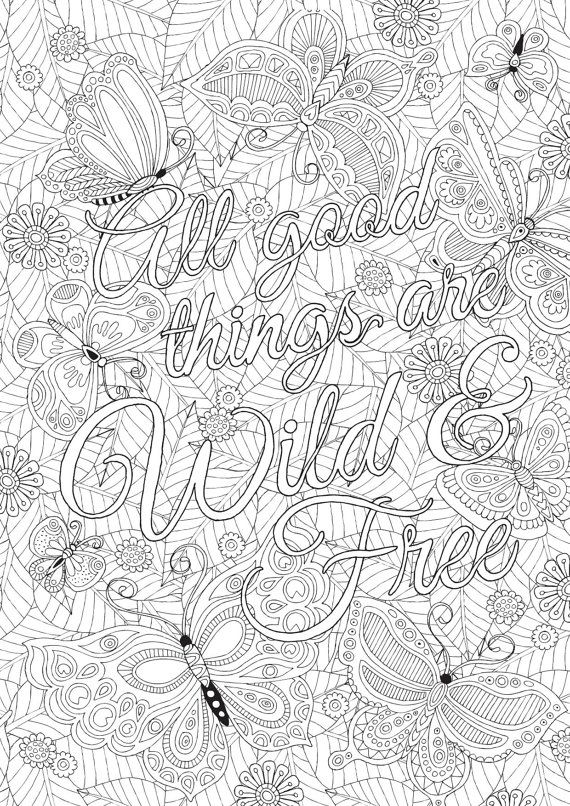 All Good Things are Wild \ Free - Colour with Me HELLO ANGEL - copy free coloring pages showing kindness