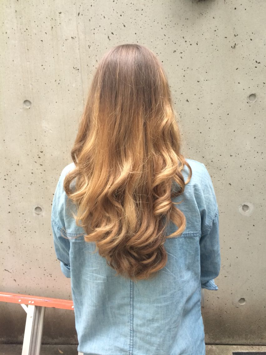 Brown to blonde ombré hairstyle new dyed love curls curlyhair