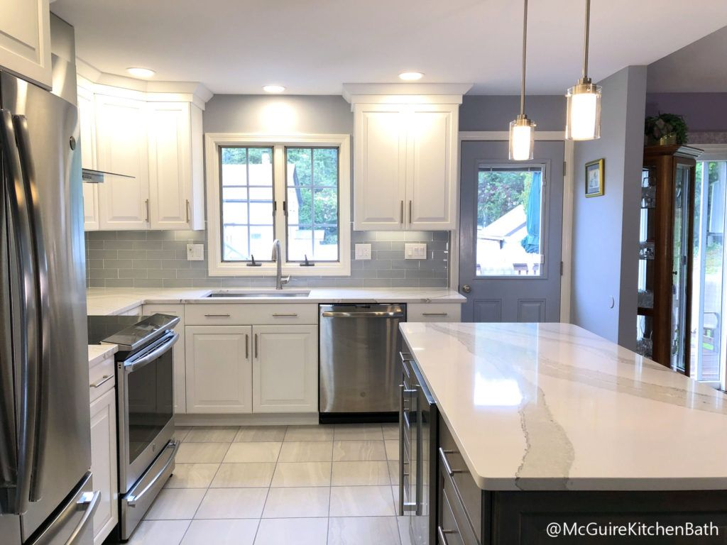 Gray And White Kitchen White Kitchen Cabinets With Gray Island Kitchen Remodel Complete Kitchen Remodel Gray And White Kitchen